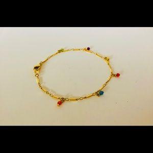 Jewelry - Gold Tone Multi-Color Charm Bracelet
